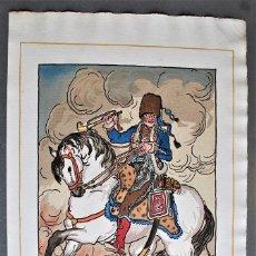 Arte: GUY ARNOUX - LE TROMPETTE HOUZARD. JINETE A CABALLO.. Lote 238626970