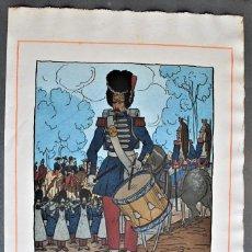 Arte: GUY ARNOUX - LE TAMBOUR DU CAMP DE CHÂLONS. SOLDADO TOCANDO EL TAMBOR.. Lote 238627370