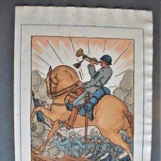 Arte: GUY ARNOUX - CEUX DE LA VICTOIRE. SOLDADO A CABALLO TOCANDO LA TROMPETA.. Lote 238627765