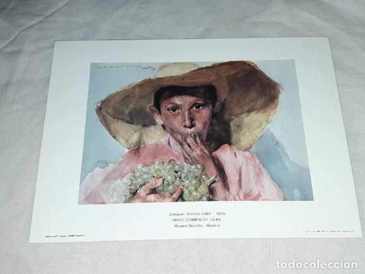 LAMINA DE JOAQUÍN SOROLLA NIÑO COMIENDO UVAS AÑO 1979 G. FERLIBE (Arte - Láminas Antiguas)