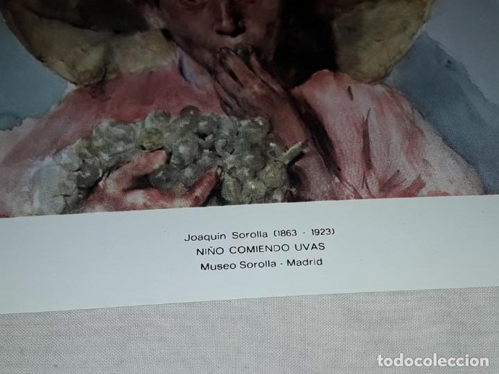 Arte: Lamina de Joaquín Sorolla Niño Comiendo Uvas año 1979 G. Ferlibe - Foto 2 - 239429660