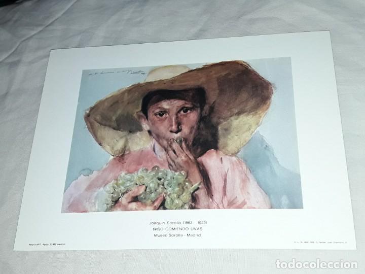 Arte: Lamina de Joaquín Sorolla Niño Comiendo Uvas año 1979 G. Ferlibe - Foto 3 - 239429660