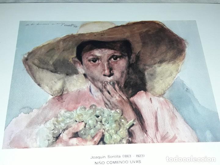 Arte: Lamina de Joaquín Sorolla Niño Comiendo Uvas año 1979 G. Ferlibe - Foto 5 - 239429660