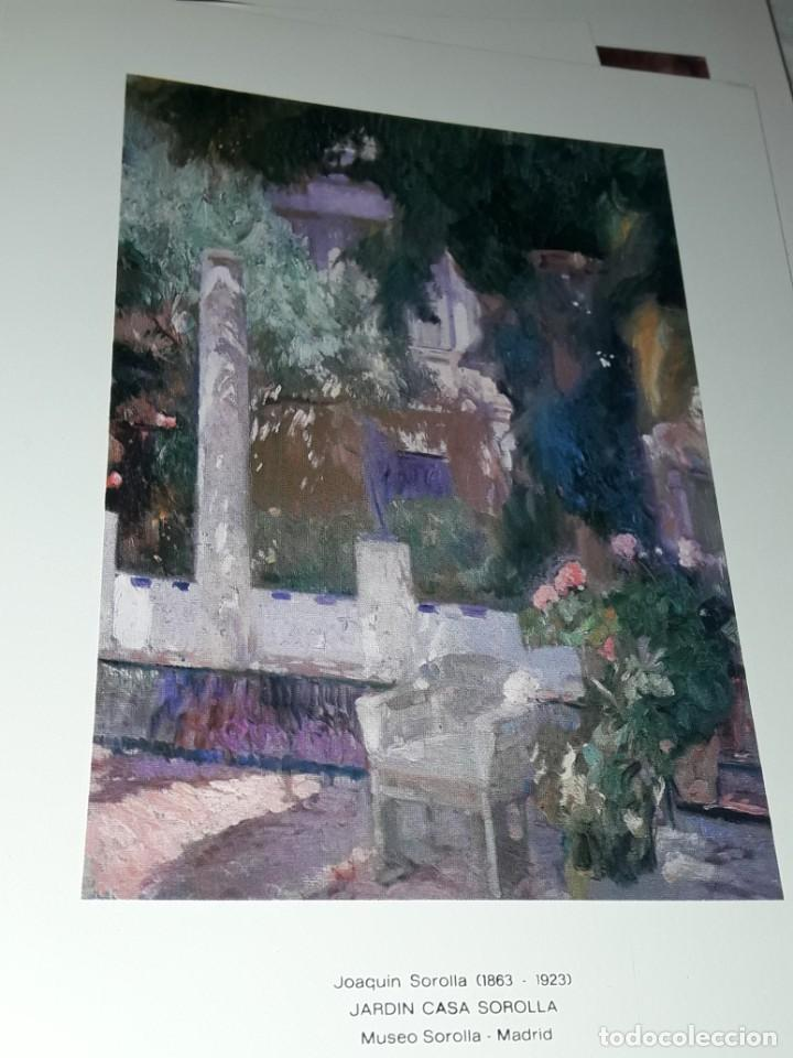 Arte: 3 Lamina de Joaquín Sorolla, Rosas, El Viejo del Pitillo, Jardin Casa Sorolla año 1979 Juan Chamorro - Foto 5 - 239430585