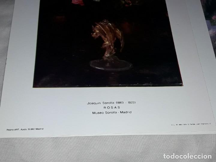 Arte: 3 Lamina de Joaquín Sorolla, Rosas, El Viejo del Pitillo, Jardin Casa Sorolla año 1979 Juan Chamorro - Foto 7 - 239430585