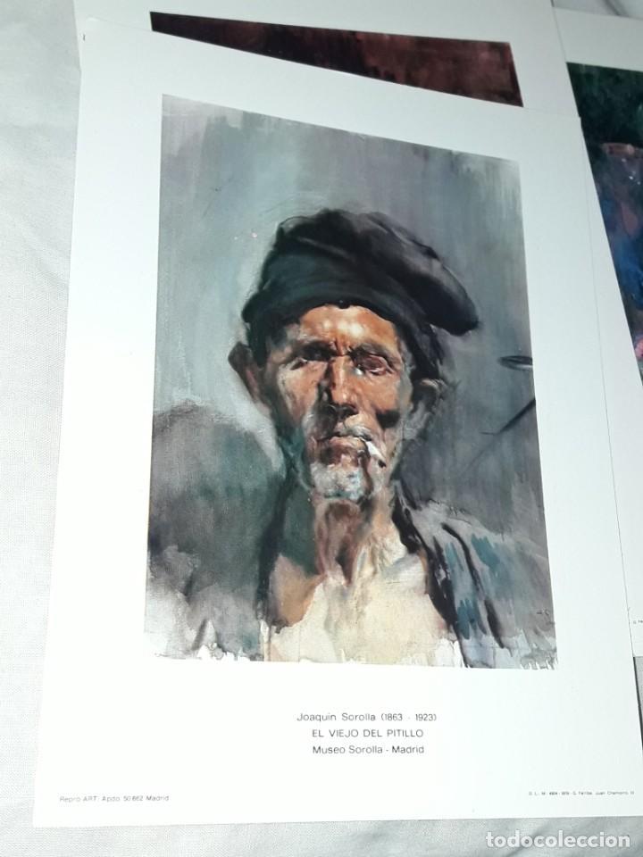 Arte: 3 Lamina de Joaquín Sorolla, Rosas, El Viejo del Pitillo, Jardin Casa Sorolla año 1979 Juan Chamorro - Foto 3 - 239430585