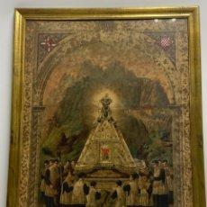 Arte: LITIGRAFIA DE LA VIRGEN DE MONTSERRAT.LA PERLA DE CATALUÑA. PRINCIPIOS S.XX.. Lote 239765685