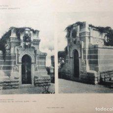 Arte: L´ARCHITETTURA DI GIUSEPPE SOMMARUGA. VARESE - EDICOLA FUNEBRE, 1898. Lote 239851850