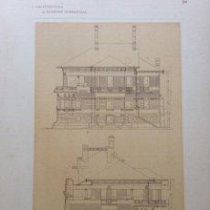 Arte: L´ARCHITETTURA DI GIUSEPPE SOMMARUGA. MILANO - PLAZZINA DEL SIG. FELICE GALIMBERTI - ( 1908 ). Lote 239861980