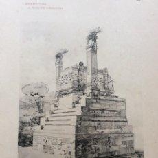 Arte: L´ARCHITETTURA DI GIUSEPPE SOMMARUGA. MILANO - CONCORSO PER L´EDICOL FUNEBRE,. Lote 239863865