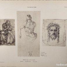 Arte: ESTUDIOS, DE ALBRECHT DURERO, MEISTER ALBERTINA, PLANCHA Nº 492. Lote 240483750