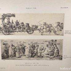 Arte: EL TRIUNFO Y LA CALUMNIA, DE ALBRECHT DURERO, MEISTER ALBERTINA, PLANCHA Nº 401. Lote 240581910