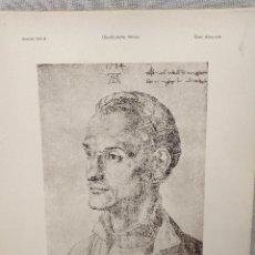Arte: RETRATO DE ANDREAS DURERO, DE ALBRECHT DURERO, MEISTER ALBERTINA, PLANCHA Nº375. Lote 240584290