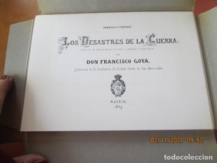 Arte: LOS DESASTRES DE LA GUERRA - FRANCISCO GOYA Y LUCIENTE - 83 LÁMINAS - 1983 - PORTADA 1ª ed. 1863. - Foto 4 - 241301295