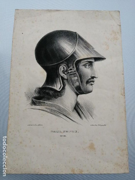 LITOGRAFÍA ANTIGUA. FRANCIA SIGLO XLX (Arte - Láminas Antiguas)
