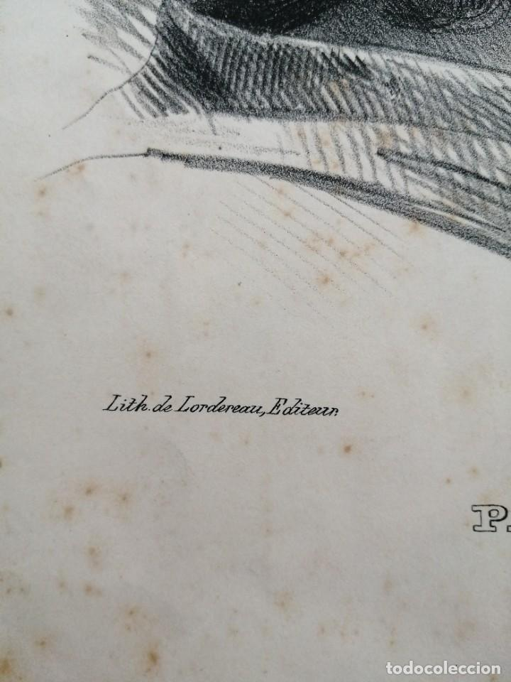 Arte: Litografía antigua. Francia siglo XlX - Foto 3 - 244018385