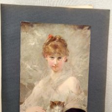 Arte: INOCENCIA DE CHARLES CHAPLIN, PLANCHA Nº 78 DE MEISTER DER FARBE 1905. Lote 244398165