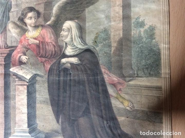 Arte: Lámina antigua 22cmx31cm Francisca y Romana. - Foto 2 - 244841860