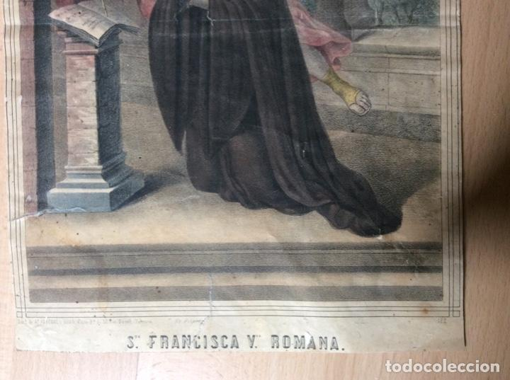 Arte: Lámina antigua 22cmx31cm Francisca y Romana. - Foto 3 - 244841860