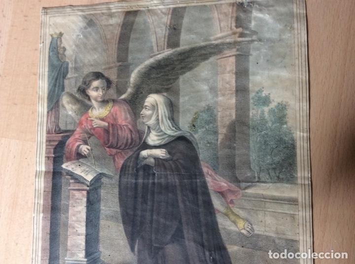 Arte: Lámina antigua 22cmx31cm Francisca y Romana. - Foto 4 - 244841860