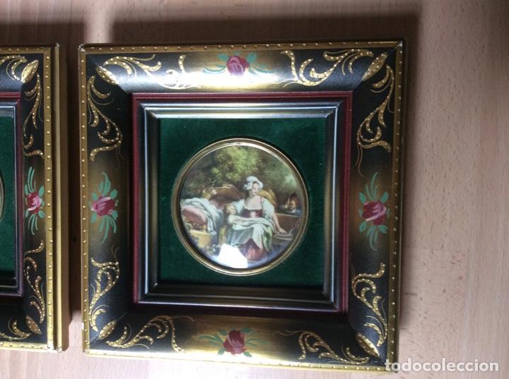 Arte: 2 cuadros de láminas antiguas 20cmx20cm total - Foto 2 - 244845565