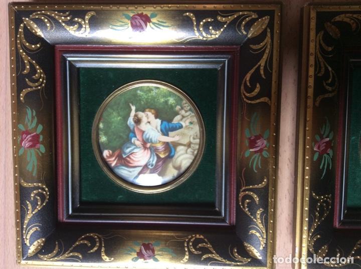 Arte: 2 cuadros de láminas antiguas 20cmx20cm total - Foto 3 - 244845565