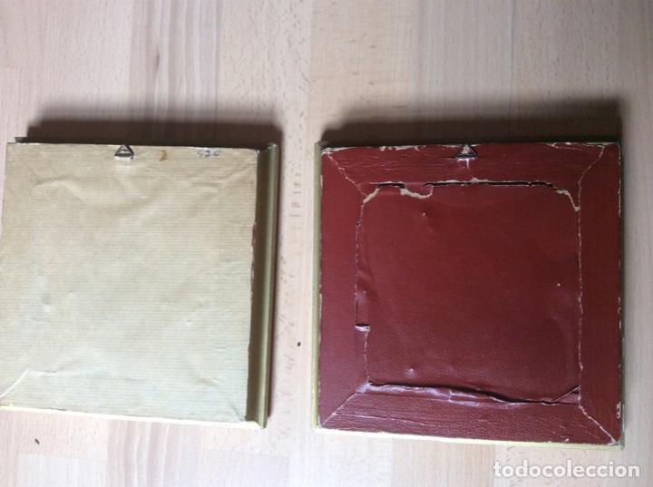Arte: 2 cuadros de láminas antiguas 20cmx20cm total - Foto 4 - 244845565