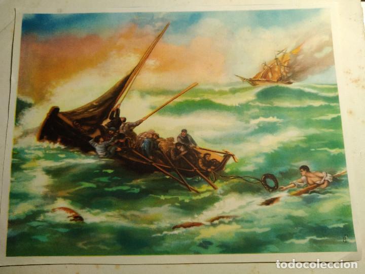 LÁMINA ANTIGUA * BARCA * (Arte - Láminas Antiguas)