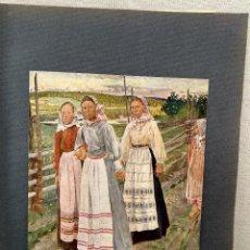 Arte: CAMPESINAS SUECAS DE CARL WILHELM WILHELMSON , PLANCHA Nº 87 DE MEISTER DER FARBE 1905. Lote 245188660