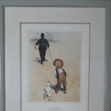 "Arte: LÁMINA DE LAWSON WOOD ""COLLARED AND CUFFED"". Lote 245189190"