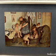 Arte: NIÑOS EN LA BAÑERA DE VIGGO JOHANSEN, PLANCHA Nº 88 DE MEISTER DER FARBE 1905. Lote 245189375