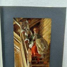 Arte: EN LAS ESCALERAS DE ANDERS ZORN, PLANCHA Nº 90 DE MEISTER DER FARBE 1905. Lote 245195575