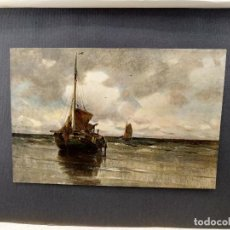 Arte: EN LA PLAYA DE CHARLES P. GRUPPE, PLANCHA Nº 92 DE MEISTER DER FARBE 1905. Lote 245196715