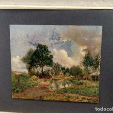 Arte: PAISAJE EN DAMVILLERS DE JULES BASTIEN-LEPAGE, PLANCHA Nº 137 DE MEISTER DER FARBE 1905,. Lote 245379000