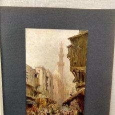 Arte: CALLE EN EL CAIRO DE FELIX DOFFART, PLANCHA Nº 138 DE MEISTER DER FARBE 1905, ORIENTALISTA. Lote 245380050