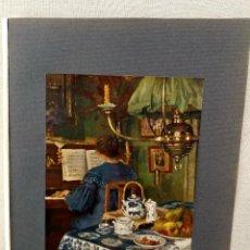 Arte: AL PIANO DE VICTOR OLIVIER GILSOUL, PLANCHA Nº 142 DE MEISTER DER FARBE 1905, MUSICA. Lote 245382900