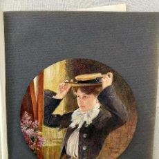 Arte: FRENTE AL ESPEJO DE CARL FRÖSCHL, PLANCHA Nº 144 DE MEISTER DER FARBE 1905,. Lote 245383630