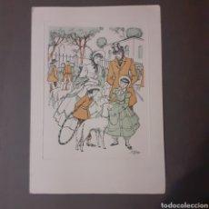 Arte: TARJETA DE A. OPISSO. 17 X 12 CM. EXCELENTE ESTADO.. Lote 245468120