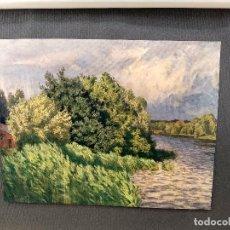 Arte: PAISAJE DE WALTER LEISTIKOW , PLANCHA Nº 229 DE MEISTER DER FARBE 1907,. Lote 245547760