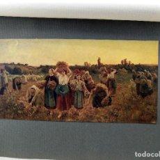 Arte: LA RETIRADA DE LAS ESPIGADORAS DE JULES BRETON, PLANCHA Nº 234 DE MEISTER DER FARBE 1907,. Lote 245552415