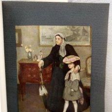 Arte: ABUELA Y NIETA DE HENRY CARO-DELVAILLE, PLANCHA Nº 239 DE MEISTER DER FARBE 1907,. Lote 245562860