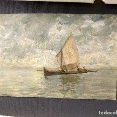 Arte: EN LA LAGUNA DE GUGLIELMO CIARDI, PLANCHA Nº 241 DE MEISTER DER FARBE 1907, PAISAJE. Lote 245564615