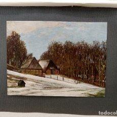 Arte: INVIERNO EN DE HANS AM ENDE, PLANCHA Nº 248 DE MEISTER DER FARBE 1907, PAISAJE. Lote 245568075