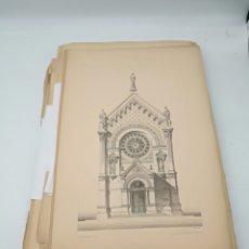 Arte: 186 LAMINAS ARQUITECTURA FRANCESA DEL ÚLTIMO TERCIO DEL XIX. Lote 246043840