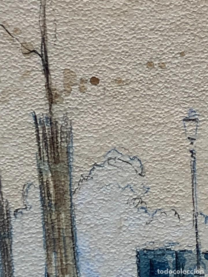 Arte: LAMINA VISTA CIUDAD CALLE KIOSCO CALESA PPIO S XX 53X44CMS - Foto 7 - 246770650