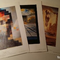 Arte: TRES LAMINAS DE SALVADOR DALÍ REPRODUCCIÓN. Lote 247517245