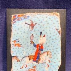 Arte: REPRODUCCION MINIATURA FRESCO PAPEL YESO TOPKAPI MUSEO TURQUIA SULEYMAN CACERIA HALCON 15X11CMS. Lote 247989555