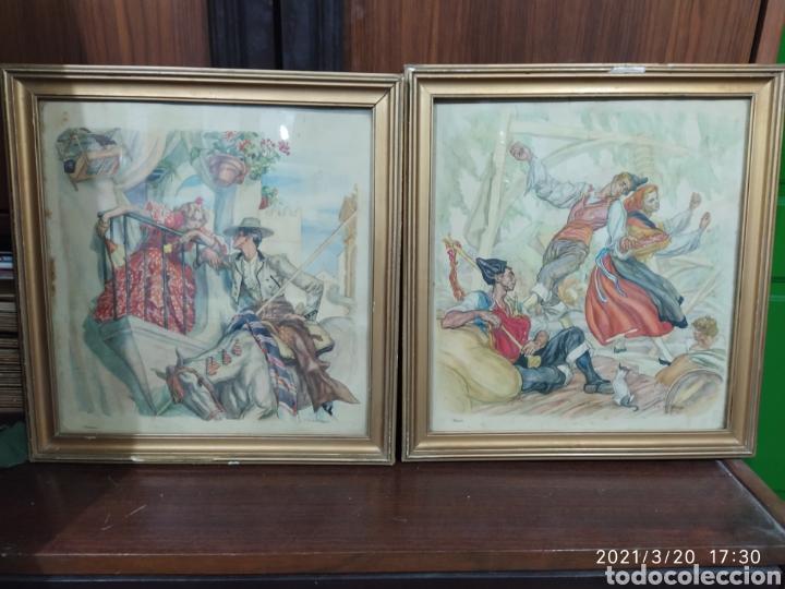 2 LÁMINAS DE C. S. DE TEJADA (Arte - Láminas Antiguas)