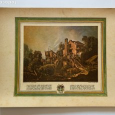Arte: EL MOLINO DE CHARENTON. FRANÇOIS BOUCHER. JAQUET. GRABADO. LÁMINA PARA ENMARCAR. VIVES VIDAL, 1972.. Lote 249298490