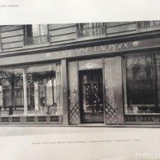 Arte: FAÇADES DE MAGASINS PARISIENS. EDITOR CH. MASSIN, ÉDITEUR, PARIS. CERCA DE 1920. 2 EJEMPLARES. Lote 252511845